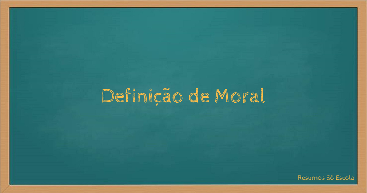 Definição de Moral