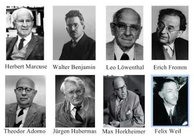 Principais pensadores da escola de Frankfurt.