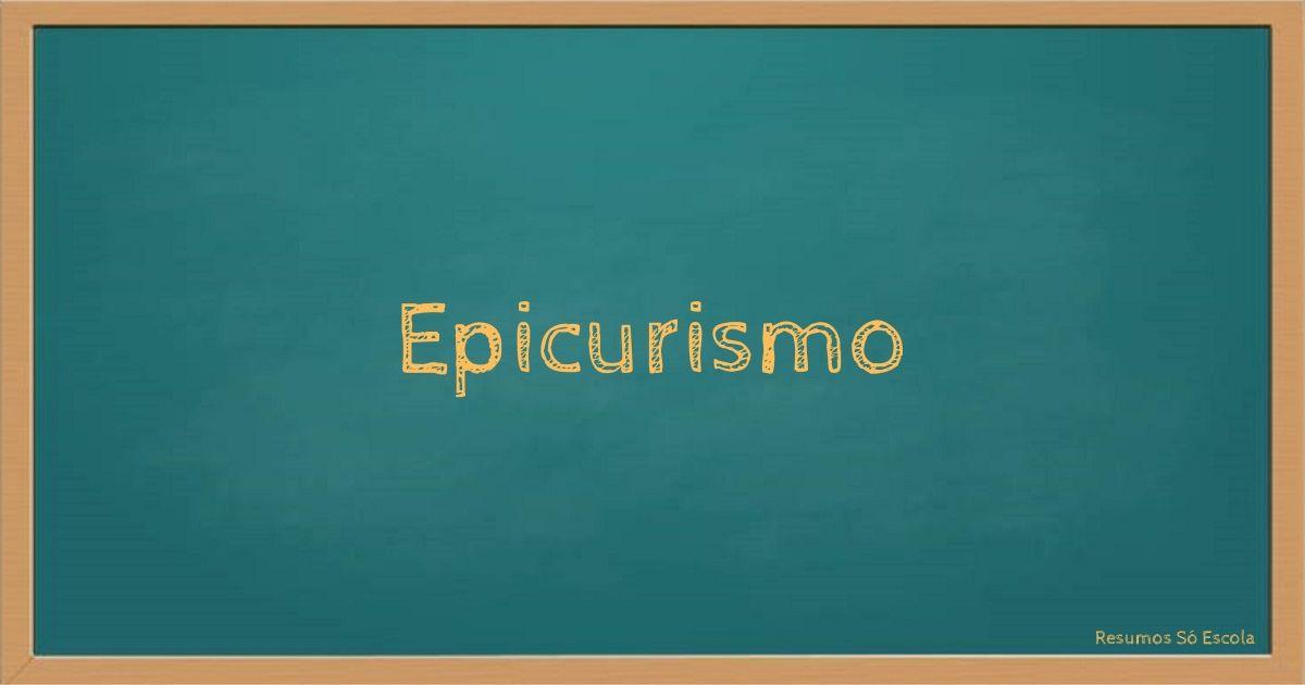 Epicurismo - Capa